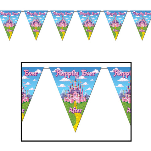 "Princess Pennant Banner 10"" x 12' (Each)"