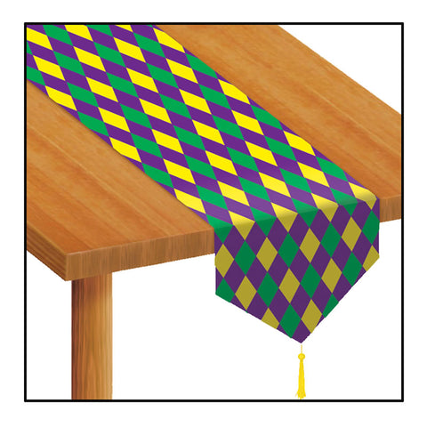 "'Mardi Gras Table Runner 11"" x 6'' (Each)'"
