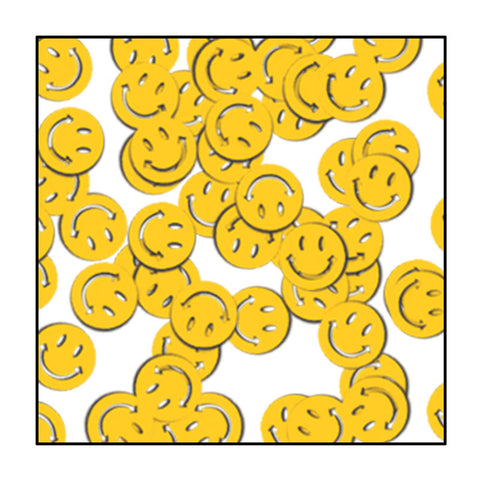 Yellow Smiley Face Fanci-Fetti 1oz (Pack)