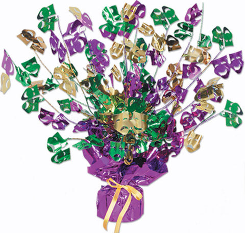 "'Mardi Gras Gleam ''N Burst Centerpiece 15"" (Each)'"