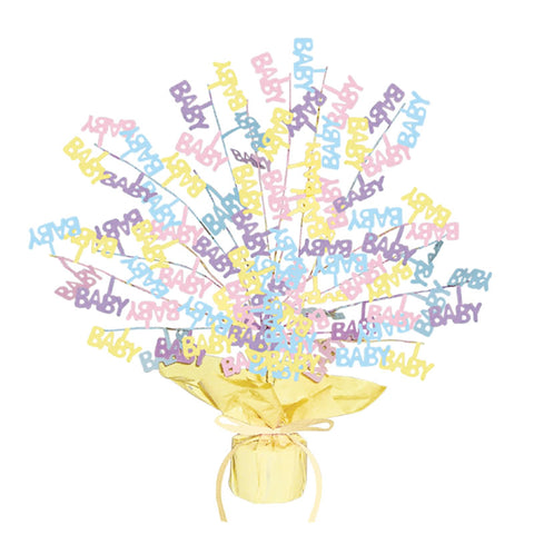 "Baby Shower Gleam N Burst Centerpiece 15"" (Each)"