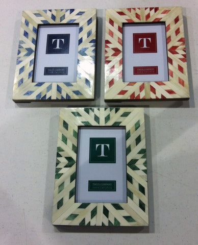 "4"" x 6"" Aztec Photo Frame - Choose From 3 Colors Blue, Red or Green (Each)"