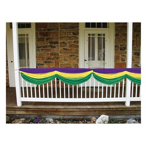 Purple, Green, and Gold Fabric Bunting (Each)