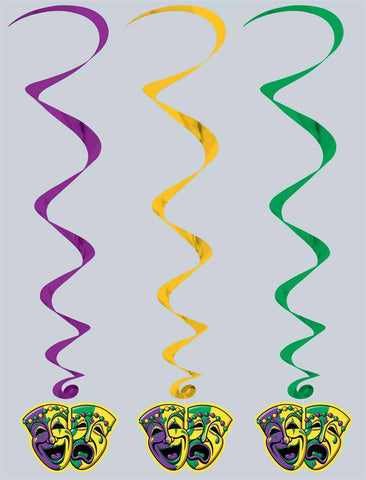 "Mardi Gras Whirls 30"" (5 Piece Pack)"
