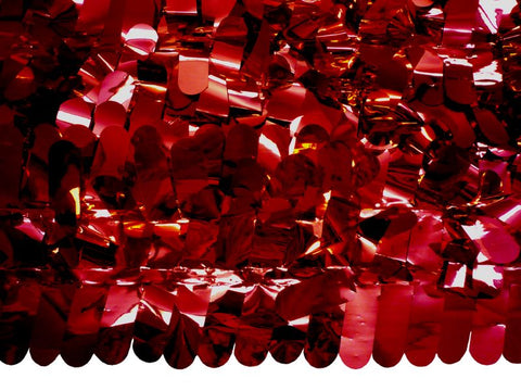 Finger Petal Paper Red Metallic 30' x 3' (Roll)