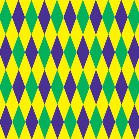 Mardi Gras Harlequin Backdrop 4' x 30'  (Each)