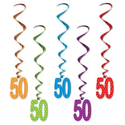 "'9"" ''50'' Whirls - Pack of 6 (Each)'"