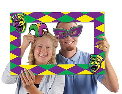 "Mardi Gras Photo Fun Frame 15.5"" x 23.5"""""