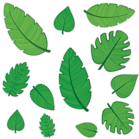 "Tropical Leaf Cutouts 4""-12"" (Dozen)"