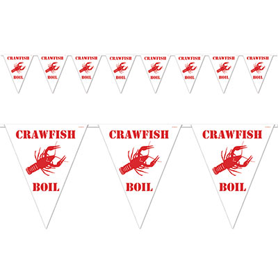 Crawfish Boil Pennant Banner (Each)