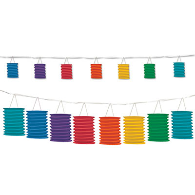 Rainbow Lantern Garland 12' (Each)