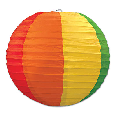 "Rainbow Paper Lanterns 9"" (3 Ct)"