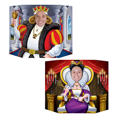 "King and Queen Photo Prop 3' 1"" x 25"" (1 Side King Other Side Queen) (Each)"