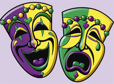 "Comedy and Tragedy Face Cutouts 16"" (2 Piece Pack)"