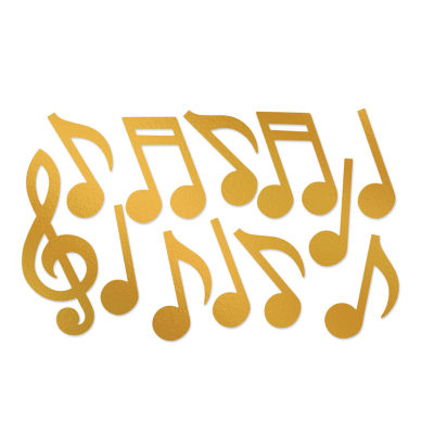 Gold Foil Musical Note Silhouettes (Pack of 12)