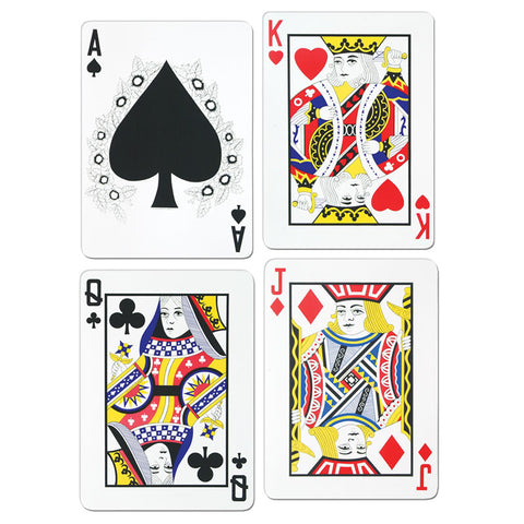 "Packaged Playing Card Cutout - Printed on Two Sides 18"" (Pack of 4)"