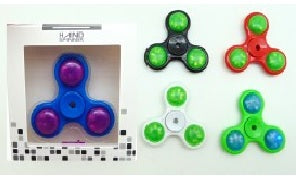 LED Fidget Spinner with 6 Assorted Colors