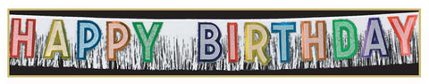 "Happy Birthday Banner 10"" x 9' (Each)"