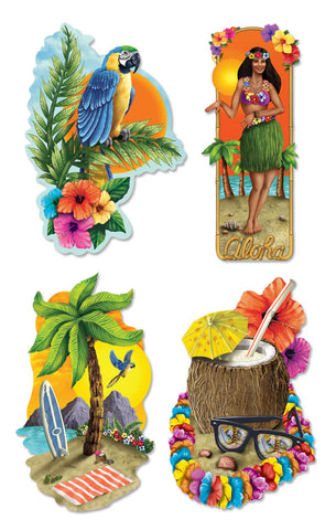 "Luau Party Cutout 20"" (Pack of 4)"
