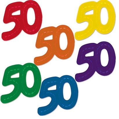 "Jumbo Fanci-Fetti - ""50"" (Pack)"