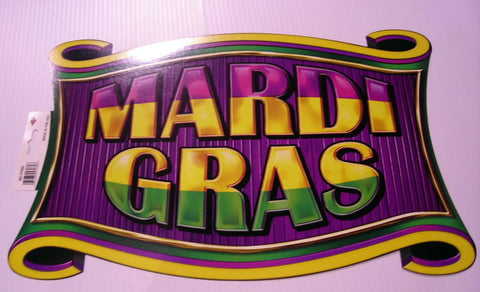 "Mardi Gras Sign 11"" x 17"" (Each)"