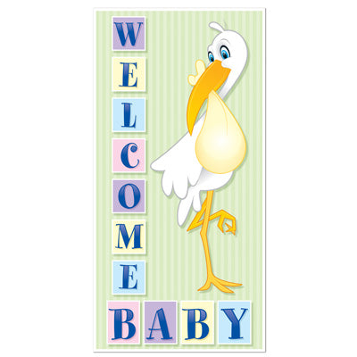 "Welcome Baby Door Cover 30"" x 5'  (Each)"