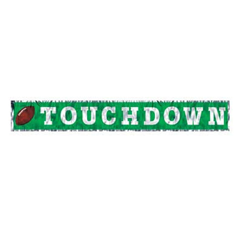 Metallic Touchdown Fringe Banner (Each)