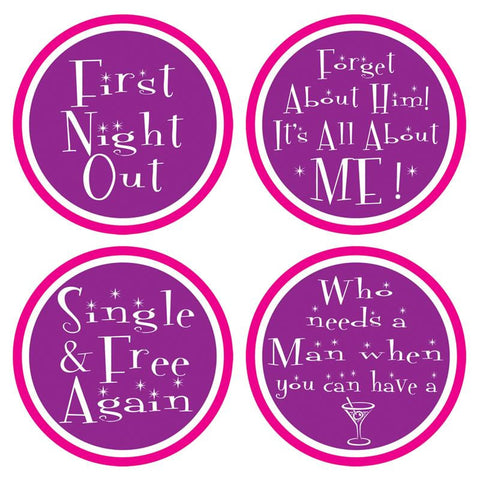Divorce Party Coasters (8 Piece Pack)