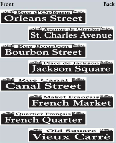 "New Orleans Street Signs 4"" x 24"" (Pack of 4)"