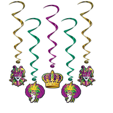 "Mardi Gras Whirls 40"" (5 Piece Pack)"