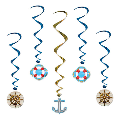 "'Cruise Ship Whirls 3'' 4"" (Pack of 5)'"