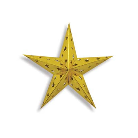 Dimensional Gold Foil Star (Each)