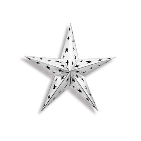 Dimensional Silver Foil Star (Each)