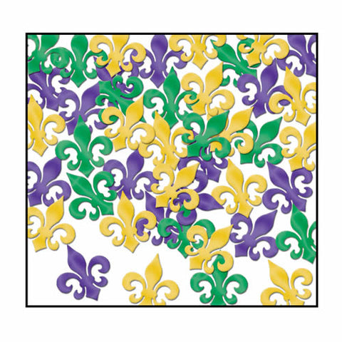 Fanci-Fetti Fleur De Lis Purple, Green and Gold - 1oz (Pack)