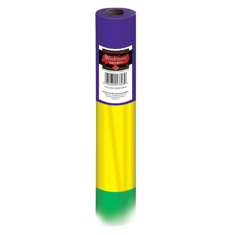 "'Mardi Gras Table Roll Plastic 40"" x 100'' (Each)'"