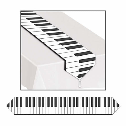 "'Printed Piano Keyboard Table Runner 11"" x 6'' (Each)'"