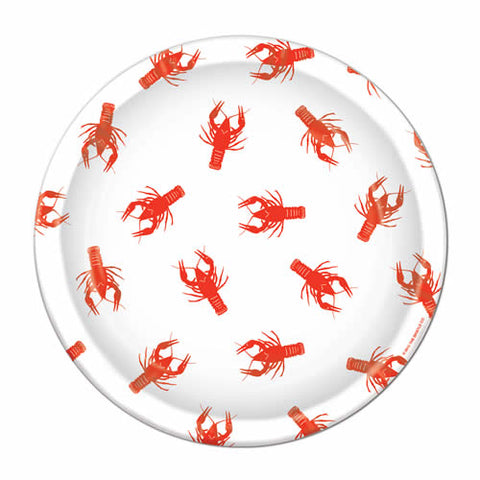 "9"" Crawfish Paper Plate (Pack of 8)"