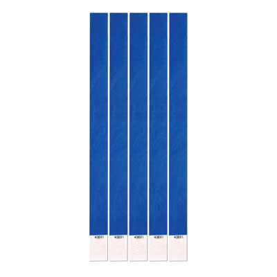"Tyvek Wristbands 3/4"" x 10"" Blue (100 In Pack)"