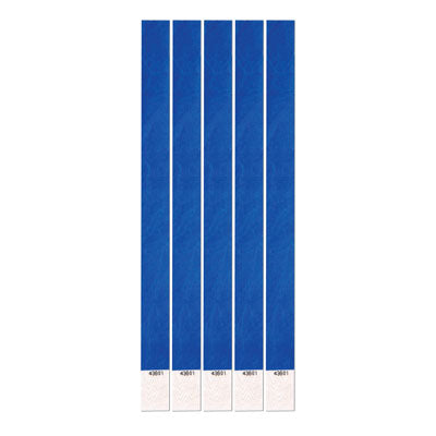 "Blue Tyvek Wristbands .75"" x 10"" (Pack of 100)"