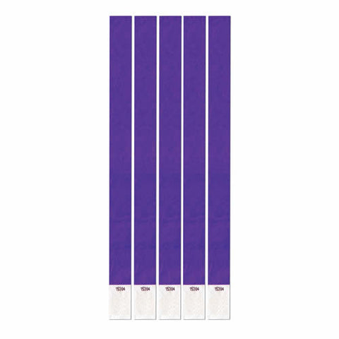"Purple Tyvek Wristband .75"" x 10"" (Pack of 100)"