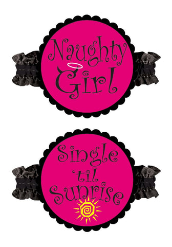 Bachelorette Party Garters (Pack - 2 Piece)