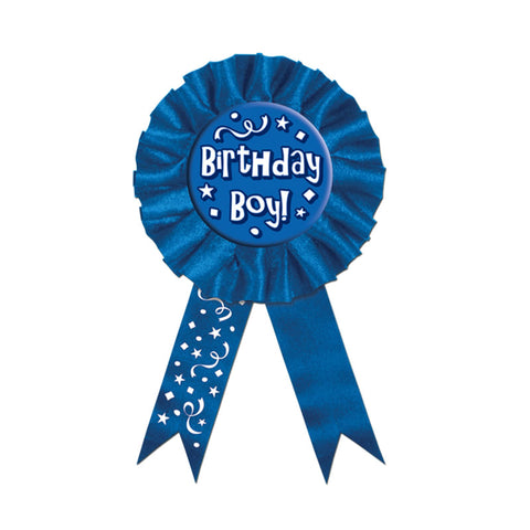 "Birthday Boy Award Ribbon 3"" x 6.5"" (Each)"