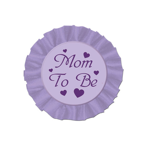 "Mom To Be Button 3.5"" (Each)"
