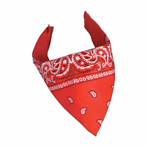 "Red Bandana 22"" x 22"" Polyester (Each)"