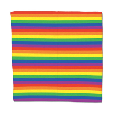 "Rainbow Bandana 22"" x 22"" (Each)"