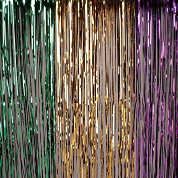 Mardi Gras Fringe Curtain 8'x 3'  (Each)