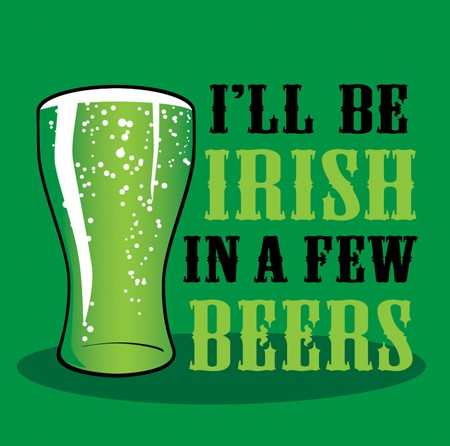 "2 Ply Beverage Napkins ""I'LL Be Irish In A Few Beers"" (18 Per Pack)"