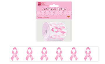 "'Pink Ribbon Poly Decorating Material 3"" x 50'' All Weather (each)'"