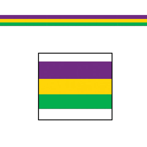 "'Purple, Green, and Gold Decorating Material 3"" x 50'' (Roll)'"
