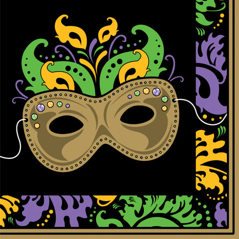Lunch Napkin Mardi Gras Magic 18 Count 2 Ply